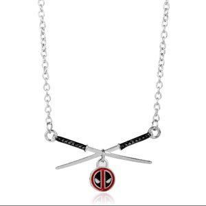 Marvel Deadpool Swords Necklace